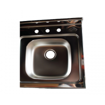 DROP IN SINK STAINLESS STEEL 6""