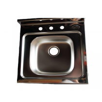 DROP IN SINK STAINLESS STEEL 8""
