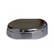 "1 1/2""  BLANK BRASS TRAP CAP - CHROME"