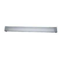 TWO BULB FLUORESCENT FIXTURE WITH VANDAL PROOF COVER