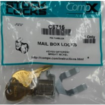 S.H. COUGH STOCK MAILBOX LOCK C8716