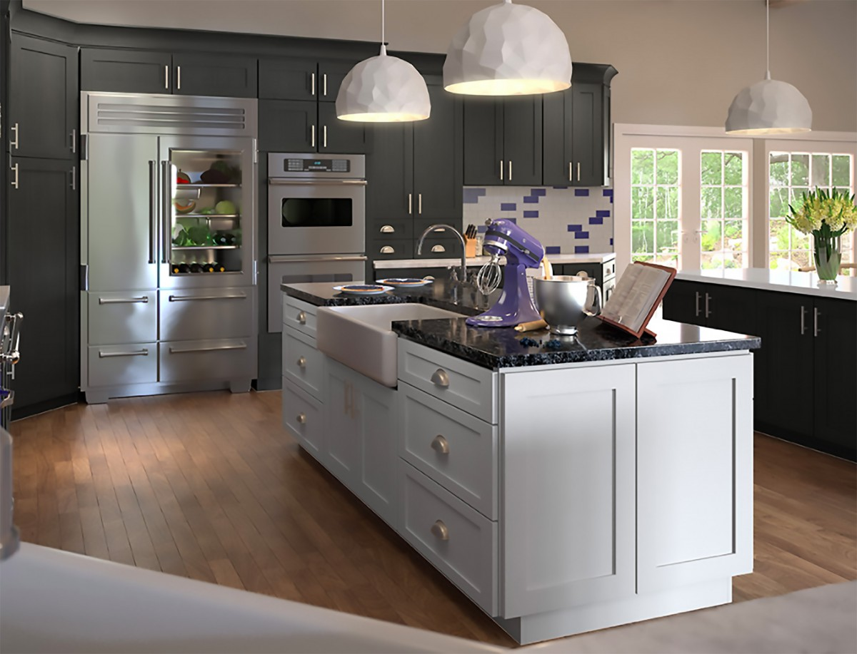 Greystone Shaker - Sunco Kitchen Collection - Cabinets ...