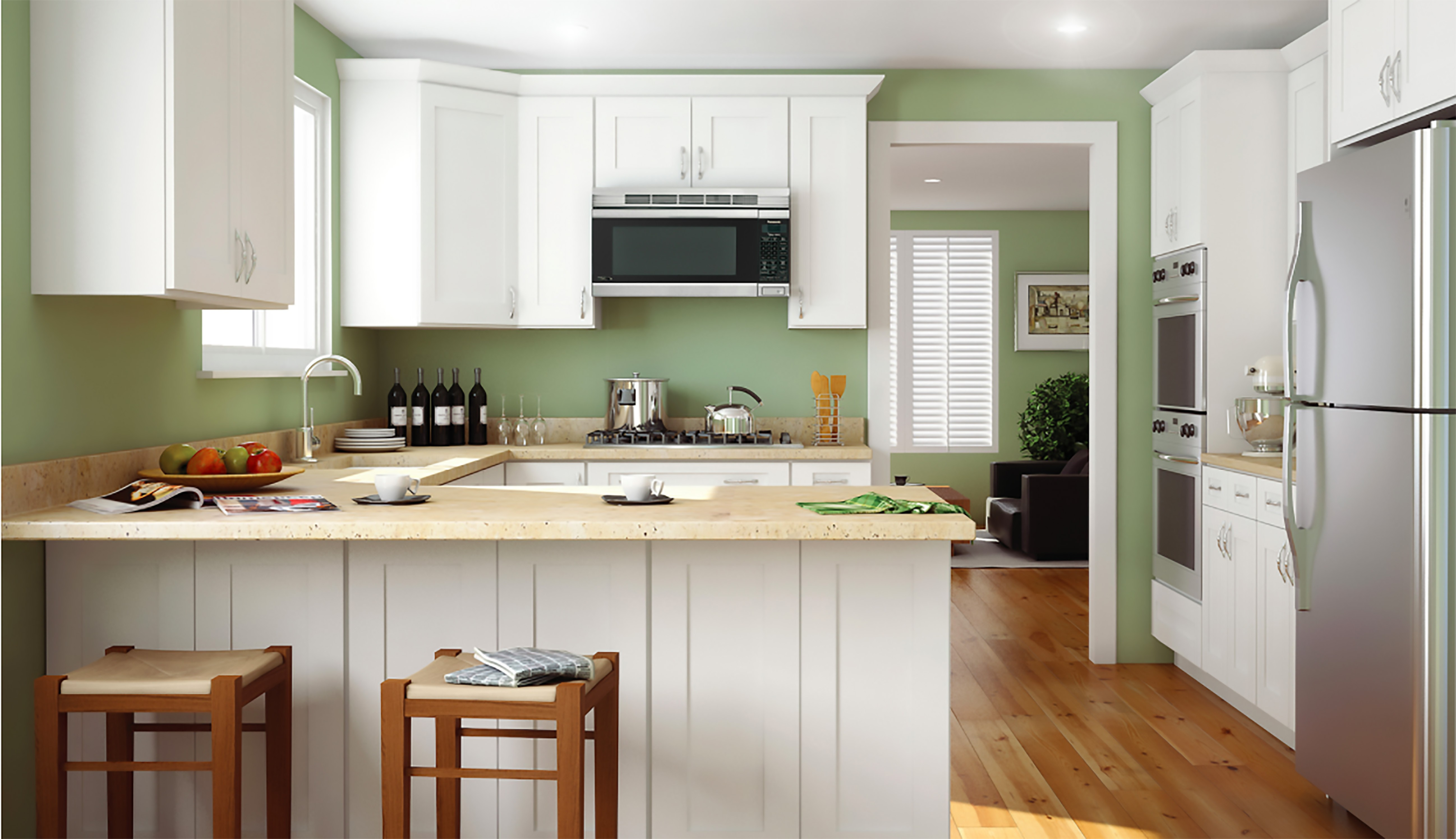 tuscany white shaker cabinet - sunco kitchen collection - cabinets - online catalog