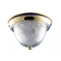 BRASS DOME FIXTURE FROSTED GLASS