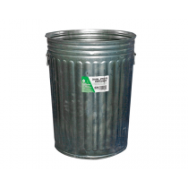 METAL GARBAGE CAN  AND COVER