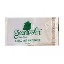 WHITE C-FOLD PAPER TOWELS