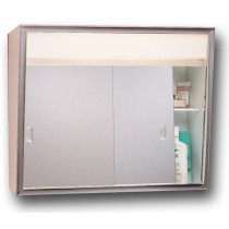 Model  #701L  SURFACE MOUNT SLIDER MEDICINE CABINET W/ LIGHT  & OUTLET